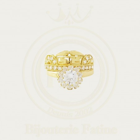 Alliance solitaire tellement chic en Or 18 carats